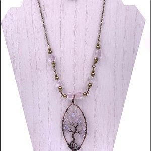 COPY - Tree of Life Opal snd Quartz necklace.